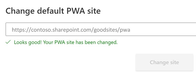 Change Default PWA Site - Wellingtone PPM