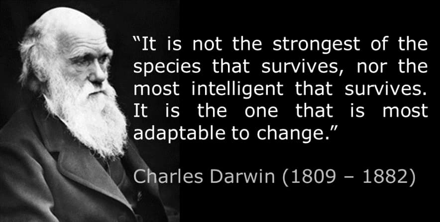Darwin Quote About Adapting to Change