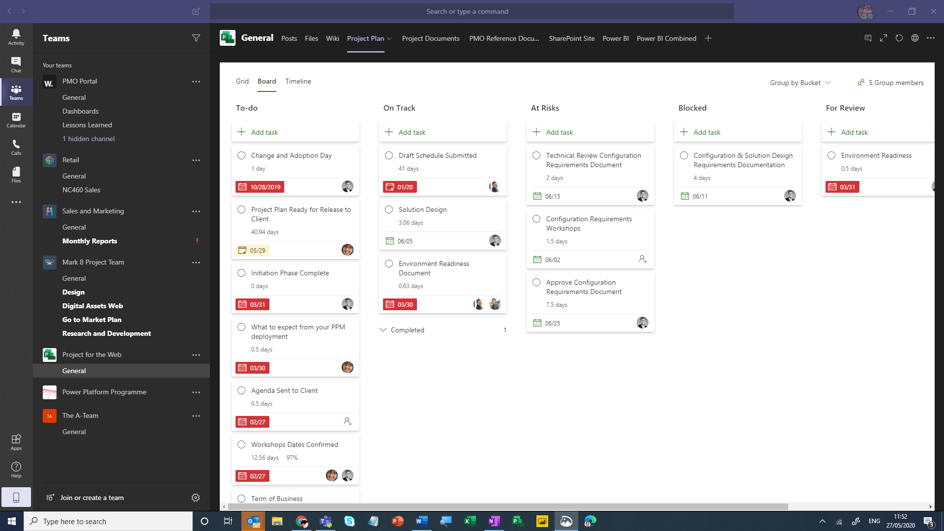 Screenshot of the overview of the team in Microsoft Teams